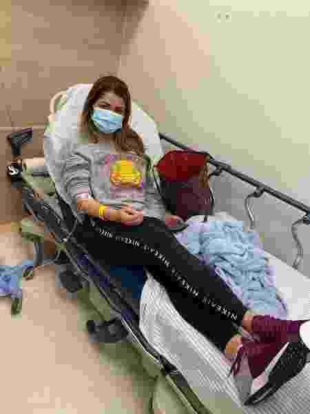Mallu Ohana, esposa de Dudu, do Palmeiras, é atendida em hospital após suposta agressão do jogador - Arquivo pessoal