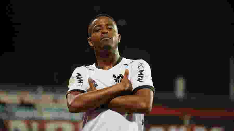 Atacante Keno, em partida do Atlético-MG - Pedro Souza/Atlético-MG