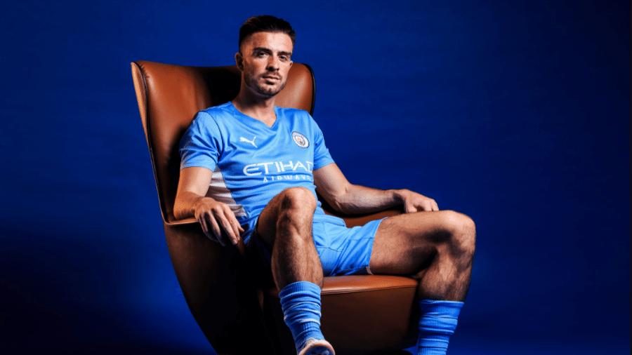 Grealish é o novo reforço do Manchester City  - Divulgação/Manchester City