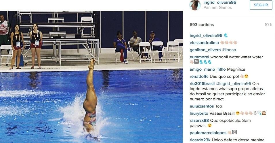 Ingrid Oliveira, saltadora representa o Brasil nos Jogos Panamericanos