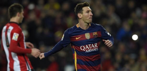 Messi fez o primeiro gol do jogo - AFP PHOTO/ LLUIS GENE