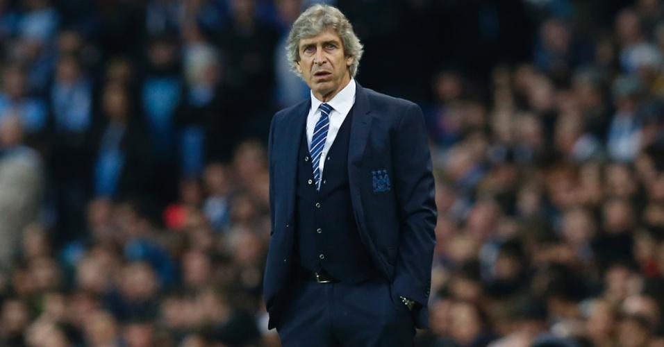 Manuel Pellegrini orienta o Manchester City contra o PSG pela Liga dos Campeões