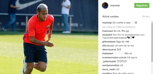 Neymar treina pela primeira vez no Barcelona após retorno da seleção brasileira