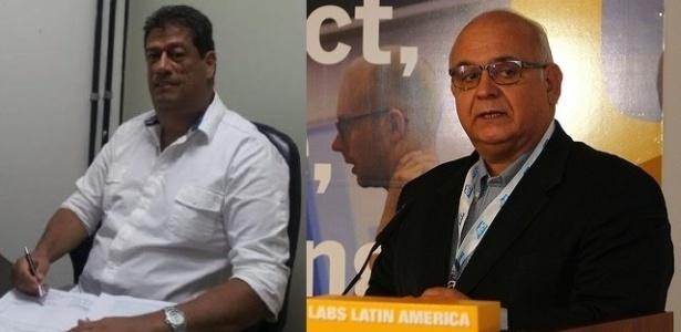 Candidatos à presidência do Grêmio, Raul Mendes (e) e Romildo Bolzan Júnior (d)