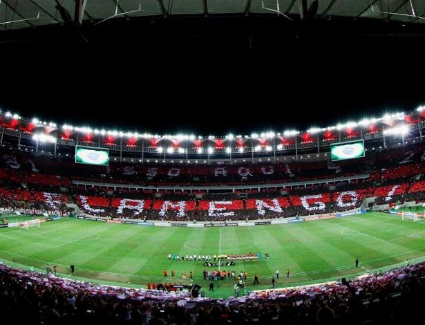 A torcida do Flamengo promete muito apoio ao time em um Maracanã novamente lotado