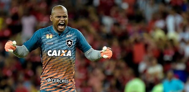 Jefferson vibra muito após classificação do Botafogo sobre o Flamengo