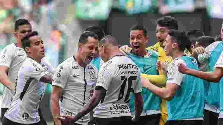 Rodriguinho do Corinthians comemora seu gol durante partida contra o Palmeiras no estadio Arena Allianz Parque pelo campeonato Paulista - Ale Cabral/AGIF - Ale Cabral/AGIF