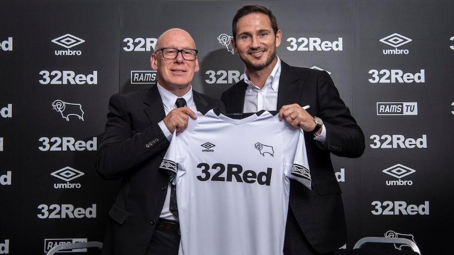 Lampard é apresentado no Derby County - Divulgação