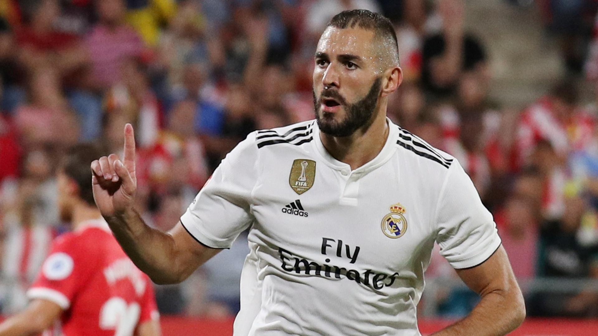 Benzema faz o seu segundo gol diante do Girona