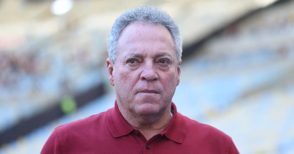 Abel Braga, durante jogo entre Flamengo e Bangu