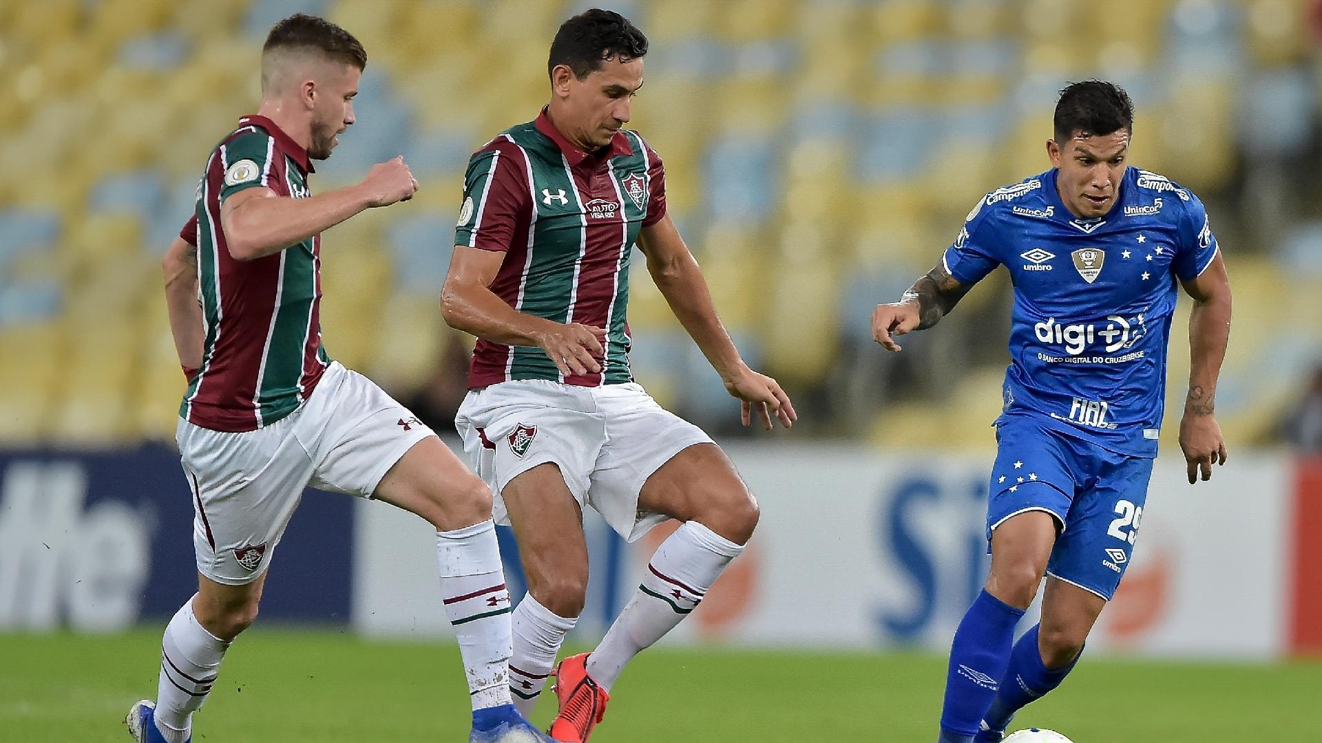 Fluminense x Cruzeiro em partida pelo campeonato Brasileiro A 2019