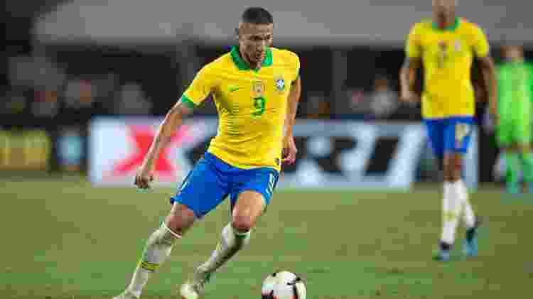 Richarlison teve boa atuação nos dois amistosos da seleção neste mês - Lucas Figueiredo/CBF