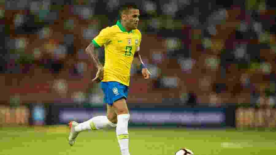Daniel Alves, durante amistoso da seleção brasileiro contra Senegal - Lucas Figueiredo/CBF