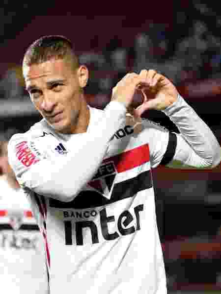Antony, do Sao Paulo, comemora seu gol durante partida contra o Vasco pelo campeonato Brasileiro - Bruno Ulivieri/AGIF