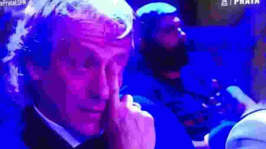 Jorge Jesus emocionado no Bola de Prata - Reprodução/ESPN