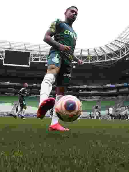 Dudu treina no novo gramado artificial do Allianz Parque - Cesar Greco/Ag. Palmeiras