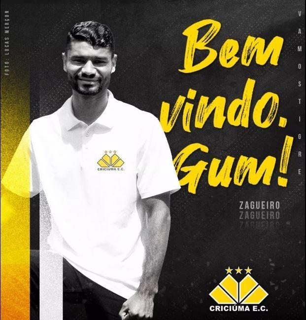 Gum chegou a ser anunciado como reforço pelo Criciúma