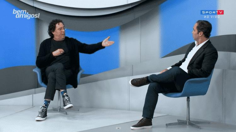 Caio Ribeiro e Casagrande discutiram durante o Bem, Amigos! - Reprodução/SporTV - Reprodução/SporTV