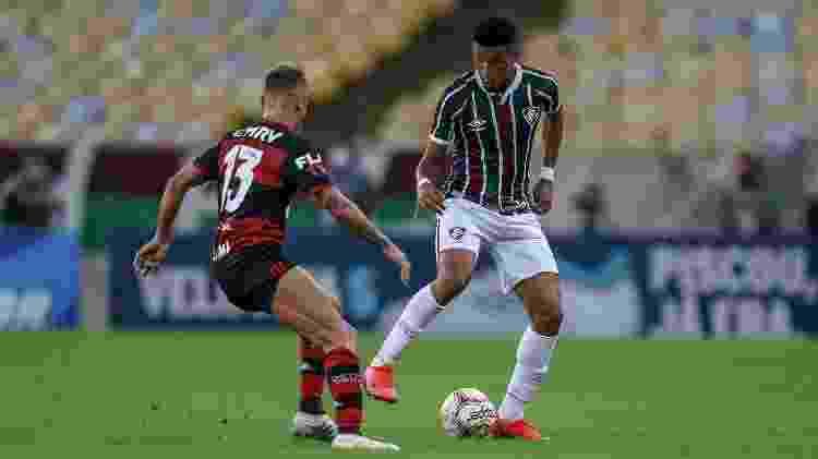 Um dos que mais provocou no Flamengo, Rafinha se irritou com dribles de Marcos Paulo, do Fluminense - Lucas Merçon/Fluminense FC - Lucas Merçon/Fluminense FC