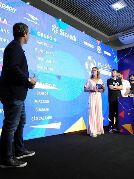 Caio Ribeiro participa do sorteio dos grupos do Paulistão-2021 na sede da FPF - Rodrigo Corsi/Divulgação