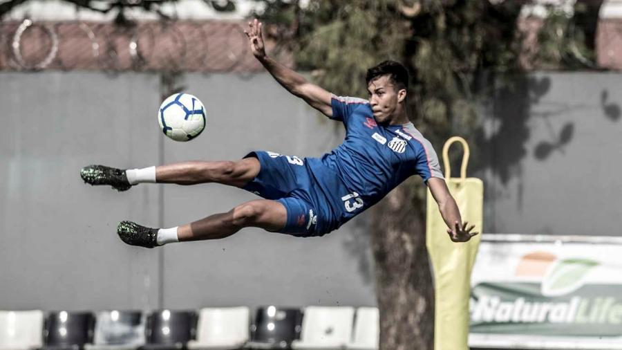 Kaio Jorge no treino do Santos - Ivan Storti/Santos FC