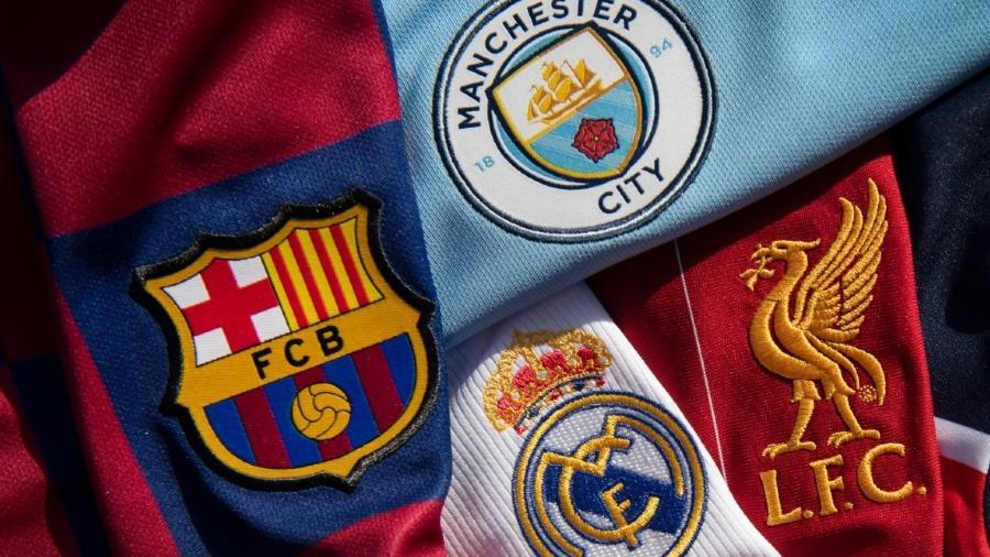 Símbolos de Barcelona, Real Madrid, Liverpool e Barcelona - Visionhaus