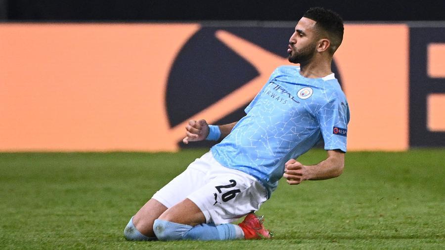 Mahrez foi o jogador mais decisivo do City nas semifinais da Champions - ANNE-CHRISTINE POUJOULAT/AFP