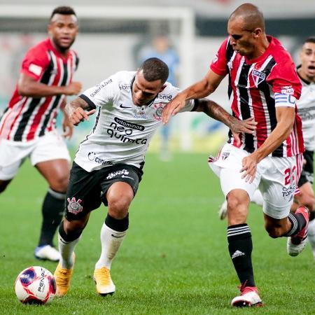 Otero encara Miranda no clássico entre Corinthians e São Paulo, pelo Paulistão - Rodrigo Coca/Agência Corinthians