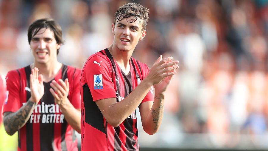 Daniel Maldini comemora vitória pelo Milan contra o Spezia - Gabriele Maltinti/Getty Images
