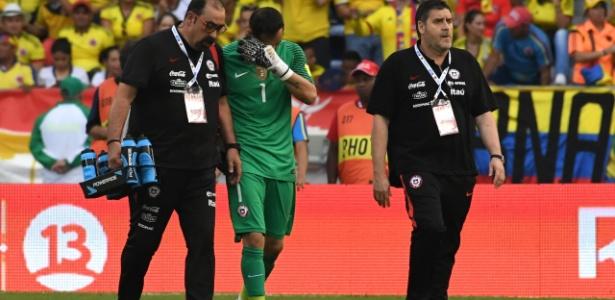 Bravo deixou a última partida do Chile com dores