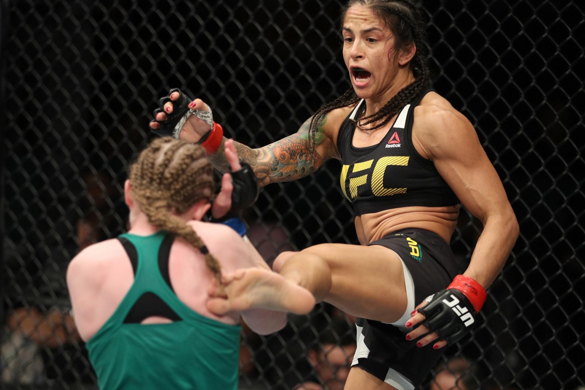 'Ju Thai' aplica chute em JJ Aldrich, no UFC Albany