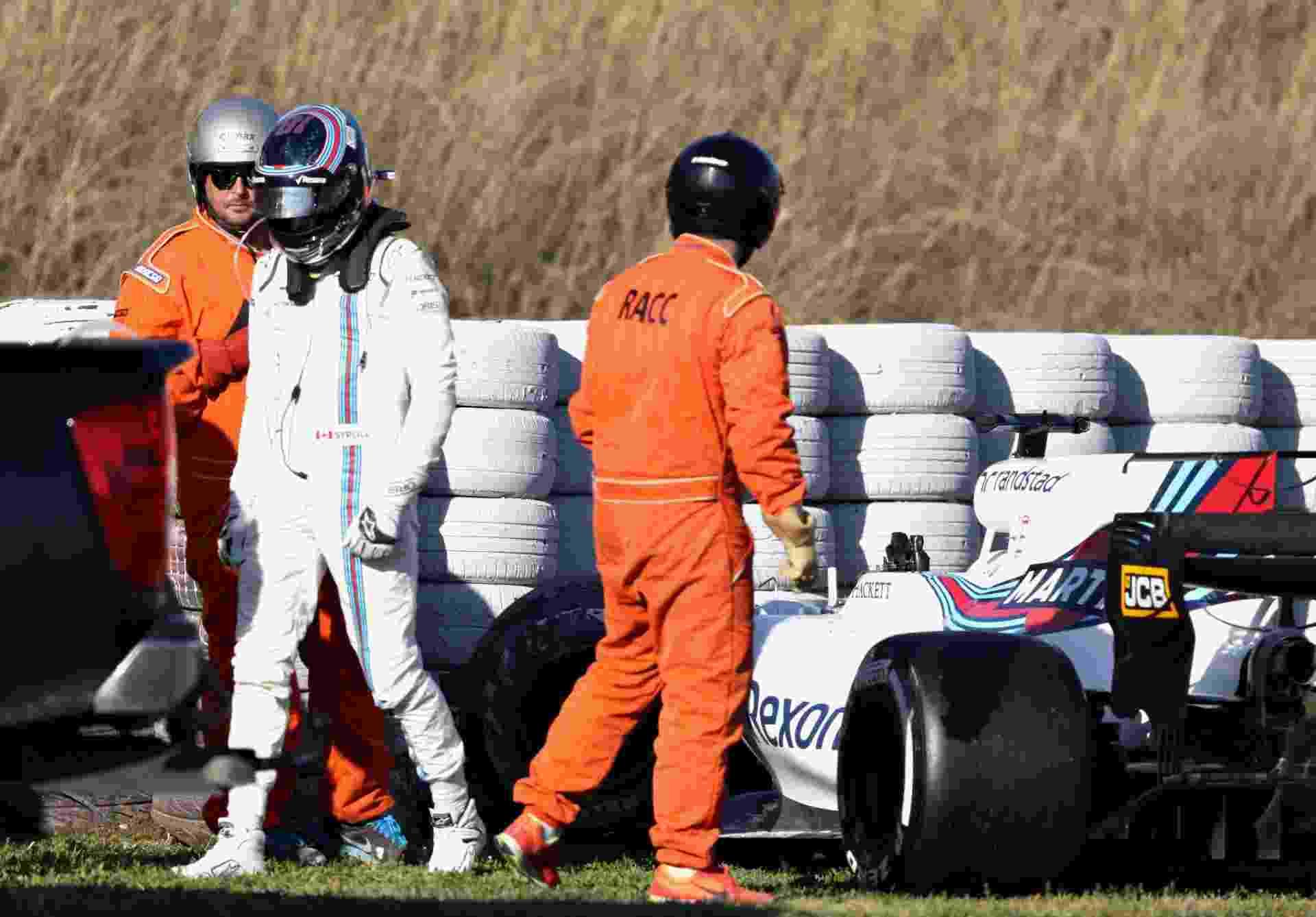 Acidente com Lance Stroll na quarta-feira encerrou atividades na Williams na semana - Mark Thompson/Getty Images