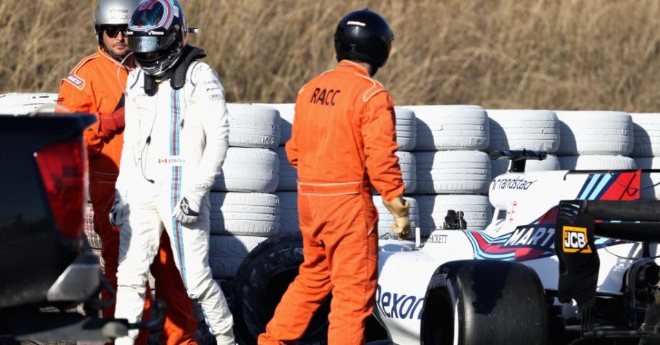 Acidente com Lance Stroll na quarta-feira encerrou atividades na Williams na semana
