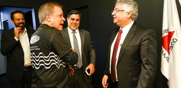 Sérgio Sette Câmara (centro) deve ser o próximo presidente do Atlético-MG