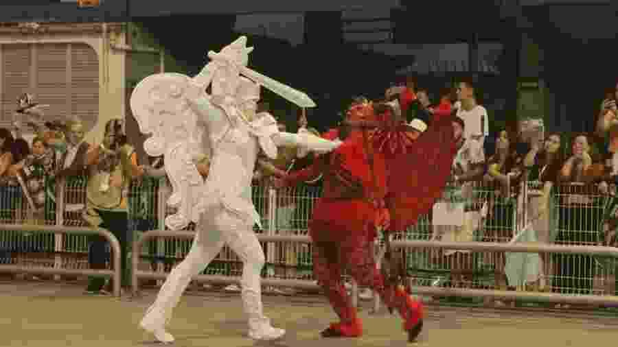 Comissão de frente da Gaviões causou polêmica ao representar o diabo no Carnaval de SP - Michele Martins / Gaviões da Fiel