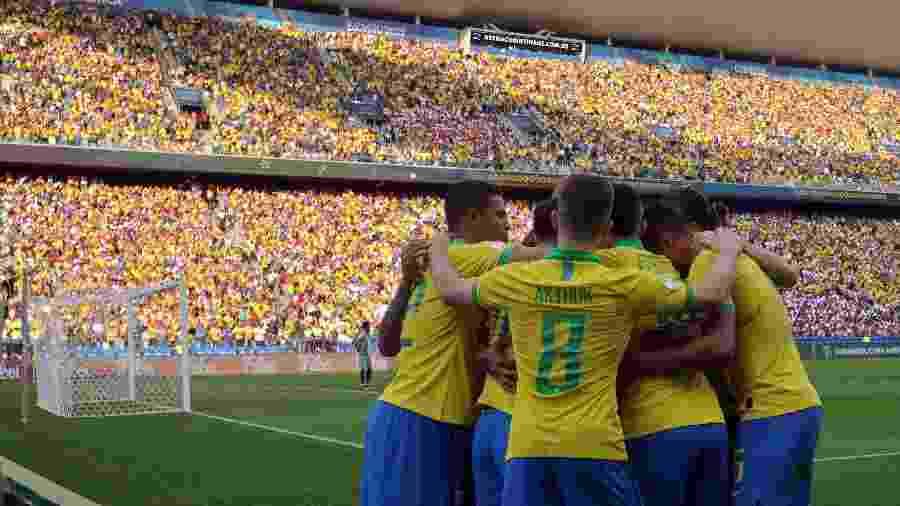 Seleção brasileira abre as quartas de final em jogo contra o Paraguai - Thiago Calil/Agif