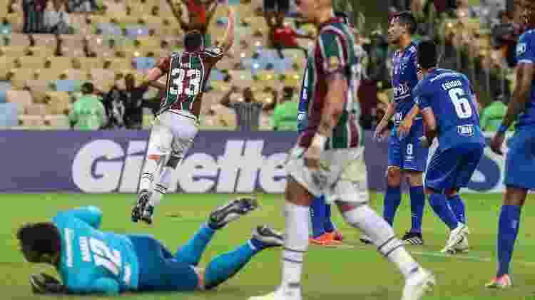 Nino comemora gol contra o Cruzeiro, no Maracanã - Lucas Merçon/Fluminense FC - Lucas Merçon/Fluminense FC