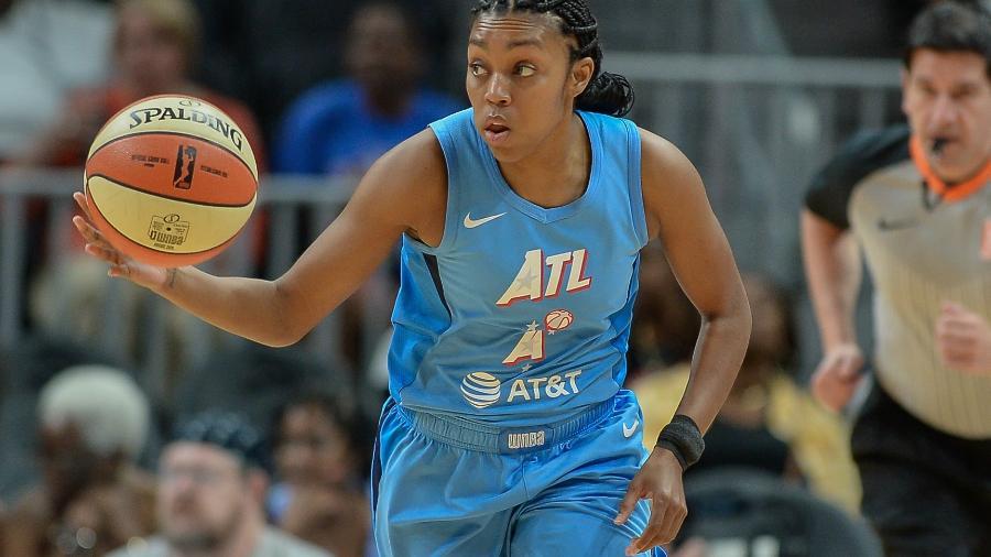Renee Montgomery, jogador do Atlanta Dream  - Rich von Biberstein/Icon Sportswire via Getty Images