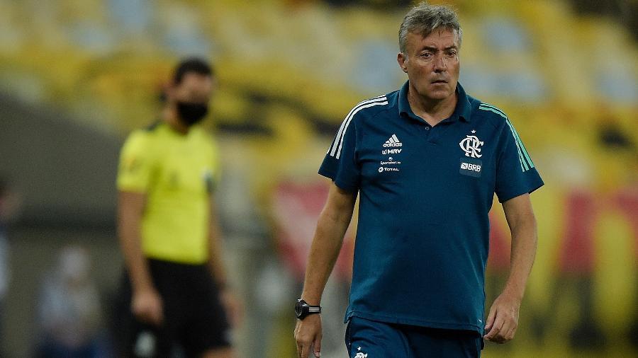 Dome comanda o Flamengo diante do Junior Barranquilla, no Maracanã - Alexandre Loureiro/Conmebol