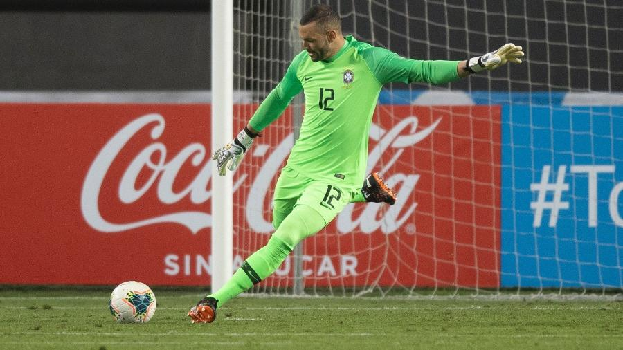 Weverton foi titular da seleção pela última vez contra o Peru, em outubro de 2020 - Lucas Figueiredo/CBF