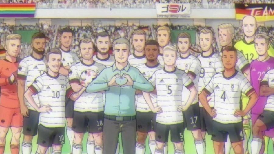 Seleção da Alemanha divulgou arte com jogadores para apresentar convocados para os Jogos Olímpicos de Tóquio - Reprodução/Twitter
