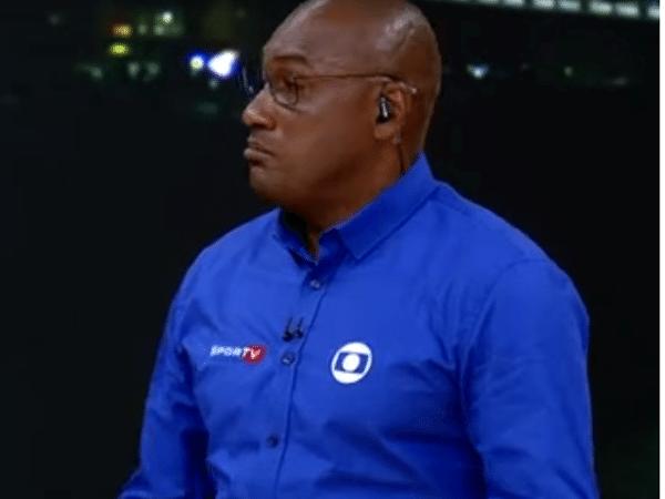 Claudinei Quirino comentando o atletismo na Globo