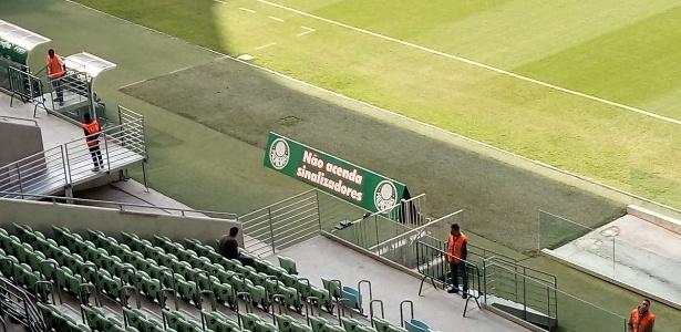 Palmeiras usou o gramado para dar um recado aos torcedores