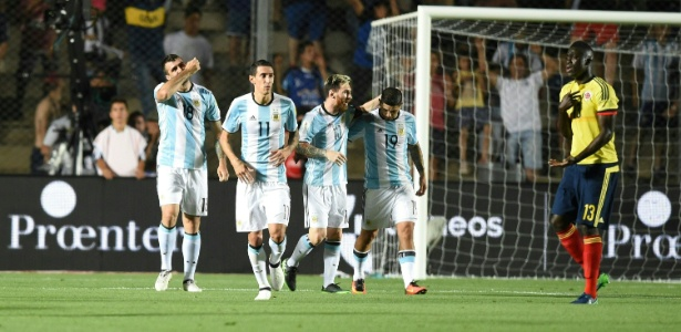 Argentina venceu por 3 a 0 contra a Colômbia