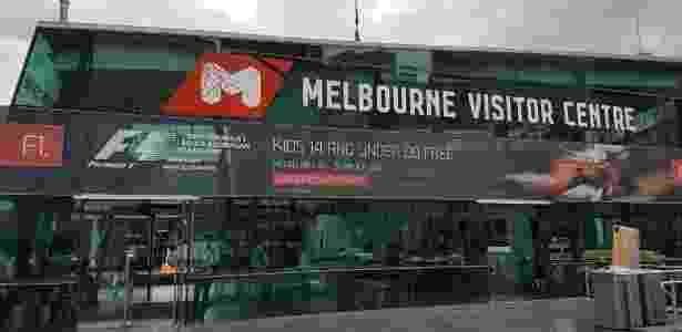 GP da Austrália muda a cara do centro de informações turísticas em Melbourne - Julianne Cerasoli/UOL Esporte