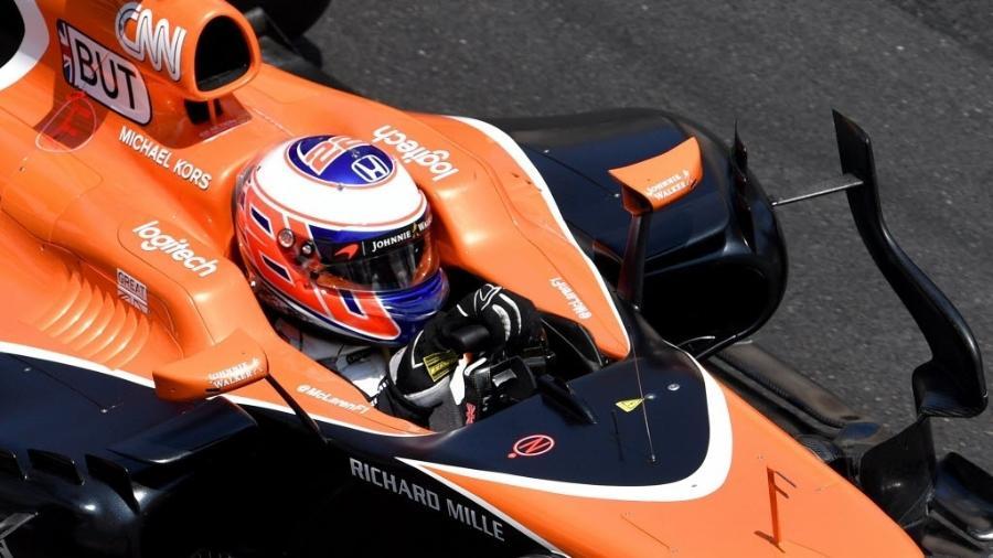 Jenson Button disputou o GP de Mônaco como substituto de Fernando Alonso - AFP