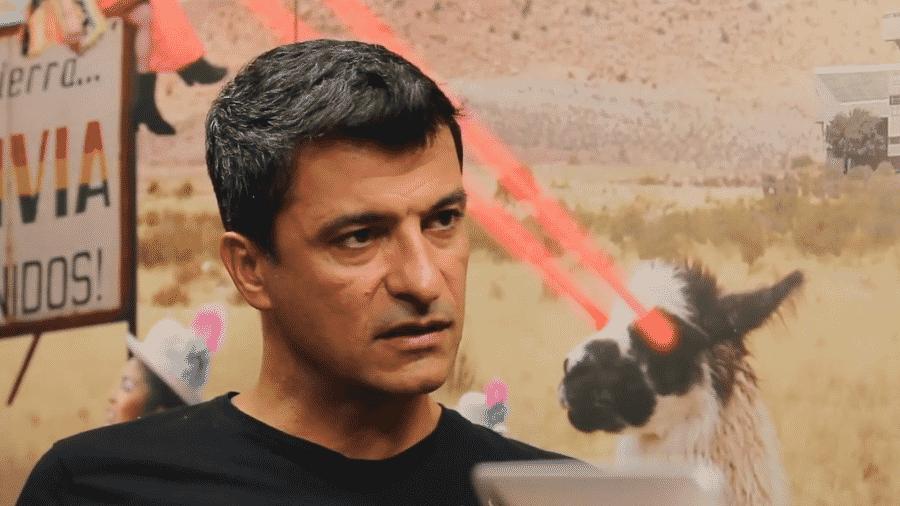Sandro Meira Ricci em entrevista ao Bolívia Talk Show, do Desimpedidos - reprodução/YouTube