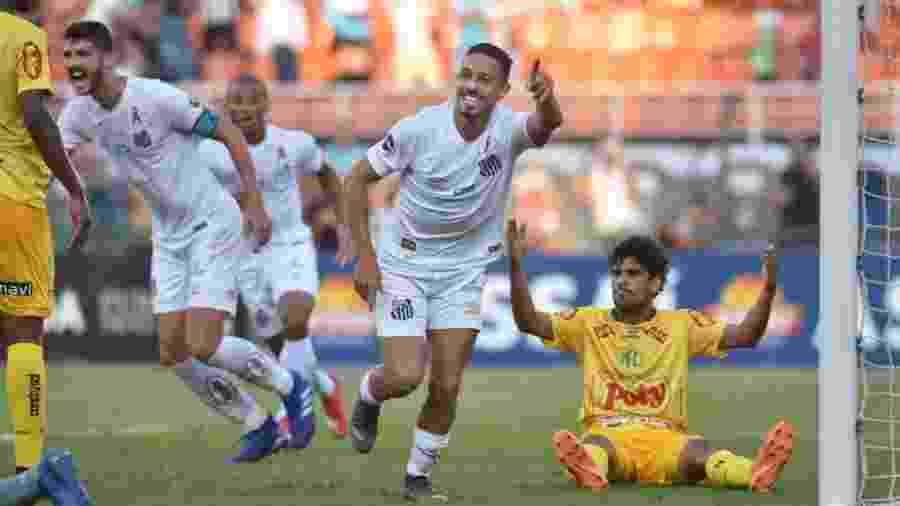Jean Mota é o artilheiro do Santos no Paulistão, com cinco gols em seis jogos - Ivan Storti/Santos FC