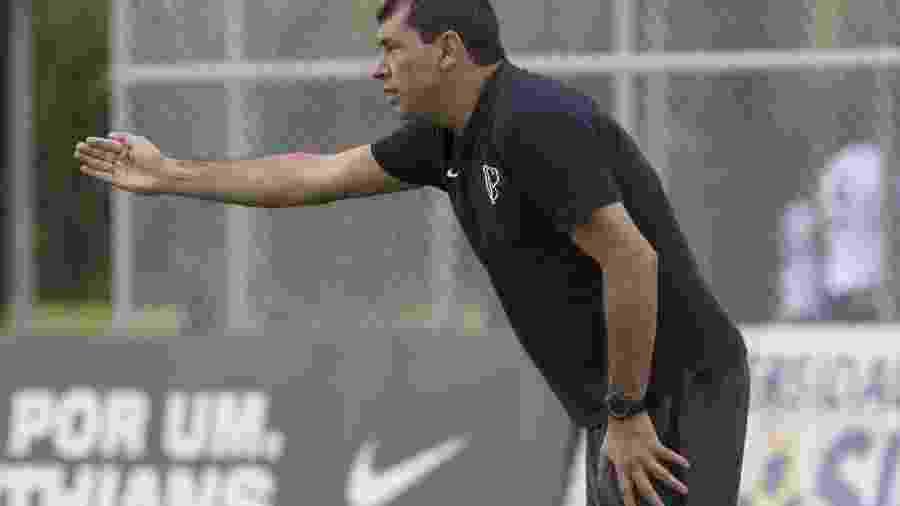 Carille optou por uma formação reserva na defesa, mas deve escalar alguns titulares contra o Botafogo-SP - Daniel Augusto Jr/Ag. Corinthians