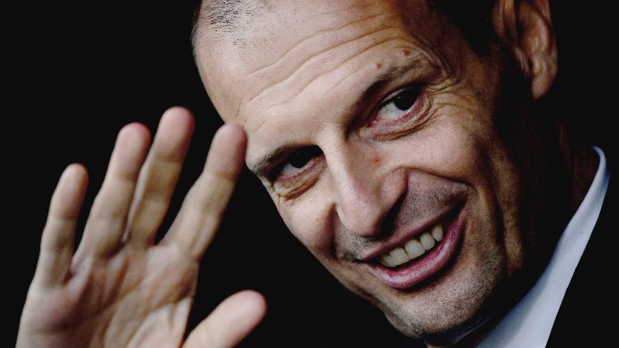 Massimiliano Allegri voltou oficialmente ao cargo de técnico da Juventus - Marco Bertorello/AFP